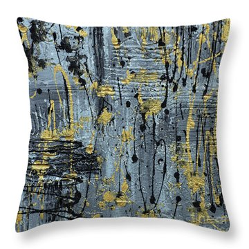 Silver And Gold  Throw Pillow by Cathy Beharriell