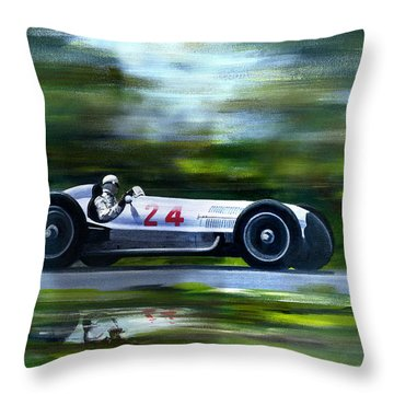 Silver Arrows Throw Pillow