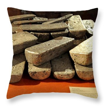 Silver Bars Throw Pillow