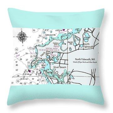 Silver Beach Throw Pillow
