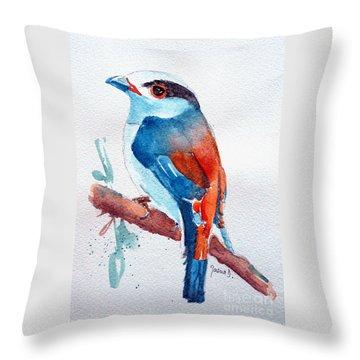 Broadbill Throw Pillows