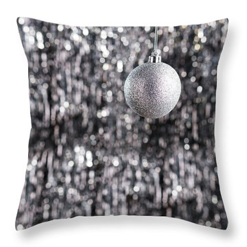 Throw Pillow featuring the photograph Silver Christmas by Ulrich Schade