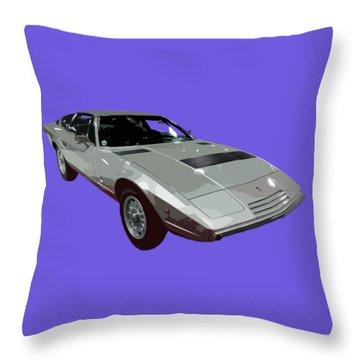 Silver Classic Sport Art Throw Pillow