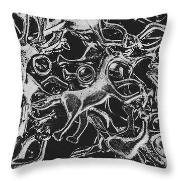Silver Cup Throw Pillow