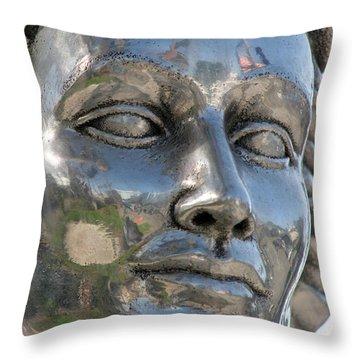 Silver Delores Del Rio Throw Pillow