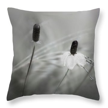 Silver Dew Throw Pillow