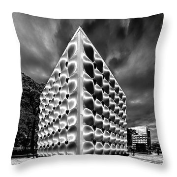 Throw Pillow featuring the photograph Silver Dice by Louis Dallara
