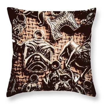 Silver Dog Show Throw Pillow
