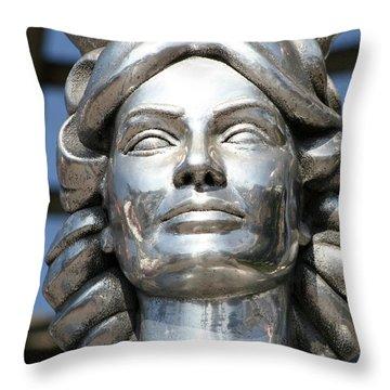 Silver Dorothy Dandridge Throw Pillow