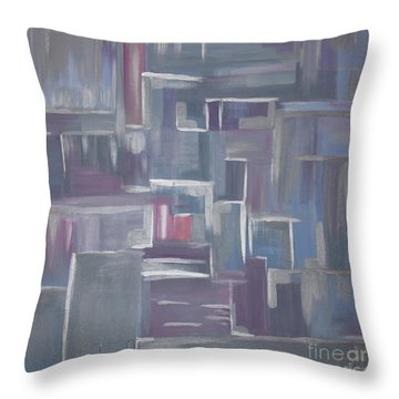 Silver Elegance II Throw Pillow