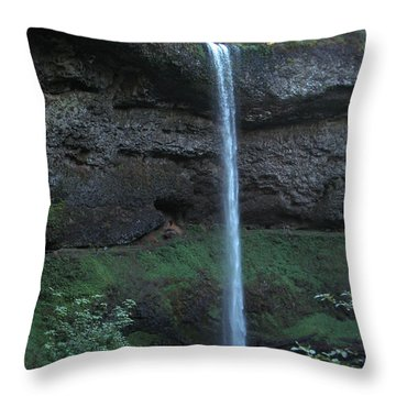 Throw Pillow featuring the photograph Silver Falls by Thomas J Herring