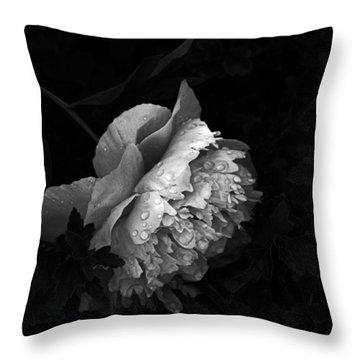 Silver Flower Throw Pillow