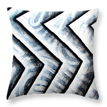 Silver Glass Waves Study 1  Throw Pillow