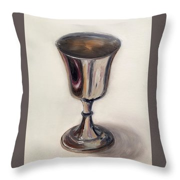 Silver Goblet Throw Pillow