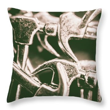 Silver Hammers Throw Pillow