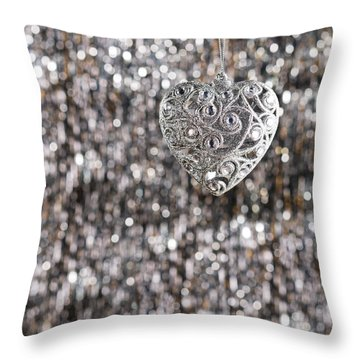 Throw Pillow featuring the photograph Silver Heart by Ulrich Schade