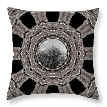 Silver Idyl Throw Pillow by Pepita Selles
