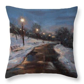 Silver Lake Reservoir Throw Pillow by Sarah Yuster