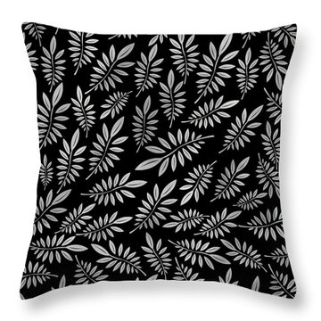 Silver Leaf Pattern 2 Throw Pillow by Stanley Wong