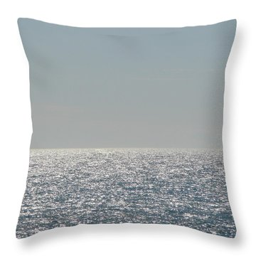 Silver Light On Lake Michigan Throw Pillow