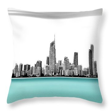 Silver Linings Panorama Throw Pillow