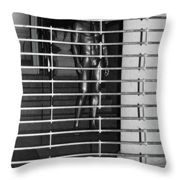 Silver Mannequin II Throw Pillow by Anna Villarreal Garbis