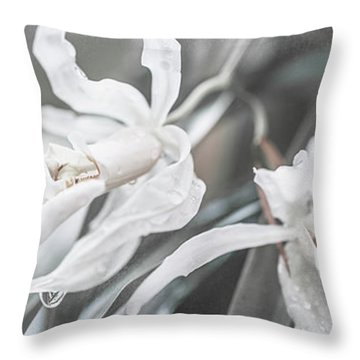 Silver Melody. Triptych Throw Pillow