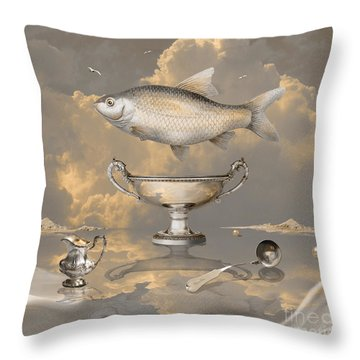 Silver Mood Throw Pillow