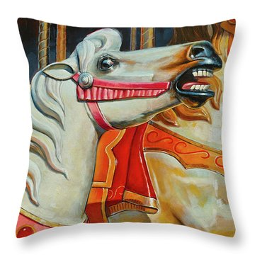 Silver Moon And Ginger Throw Pillow