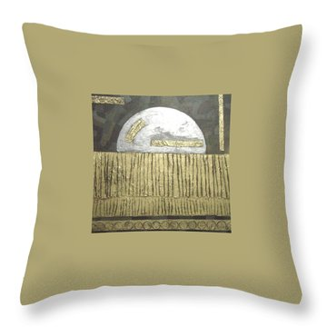 Throw Pillow featuring the painting Silver Moon by Bernard Goodman