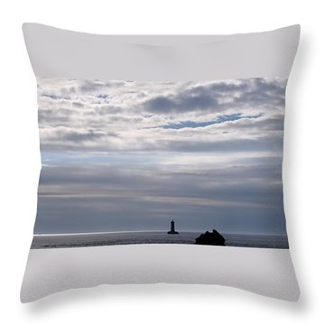 Silver On The Sea Throw Pillow by Menega Sabidussi