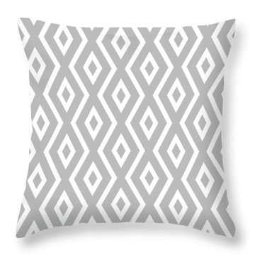 Silver Pattern Throw Pillow by Christina Rollo