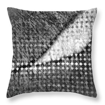 Silver Peg Throw Pillow