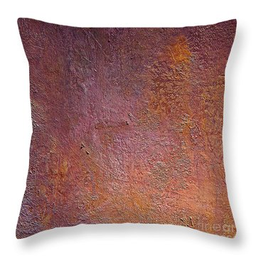 Throw Pillow featuring the mixed media Silver Plum by Michael Rock