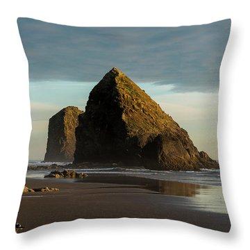 Silver Point Seastacks Throw Pillow