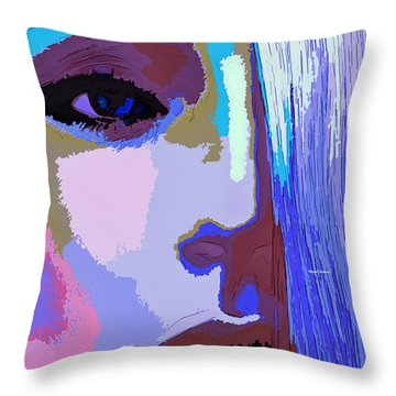 Throw Pillow featuring the digital art Silver Queen by Rafael Salazar