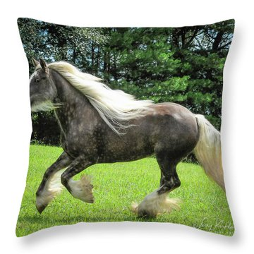 Silver Reign Wow Throw Pillow