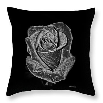 Silver Rose Throw Pillow