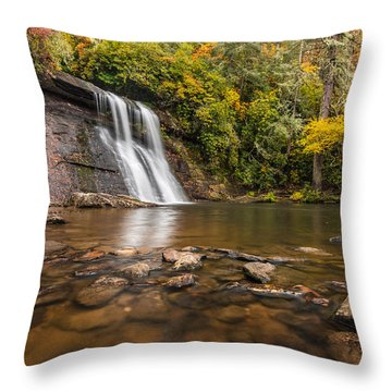 Silver Run Falls Nantahala National Forest North Carolina Throw Pillow