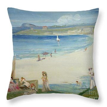 Silver Sands Throw Pillow by Charles Edward Conder
