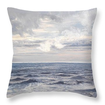 Silver Sea Throw Pillow