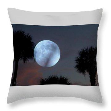 Silver Sky Ball Throw Pillow