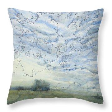 Silver Sky Throw Pillow