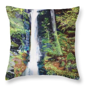 Silver Thread Falls Throw Pillow