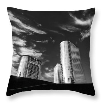 Silver Towers Throw Pillow by Dave Bowman