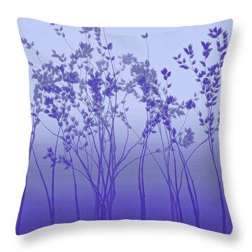 Silver Twilight Throw Pillow