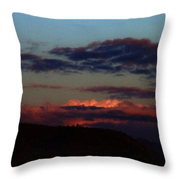 Silver Valley Moon Throw Pillow