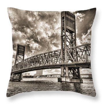 Silver Wing Throw Pillow