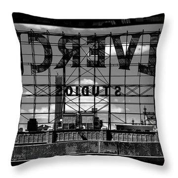 Silvercup Studios Sign Backside Throw Pillow