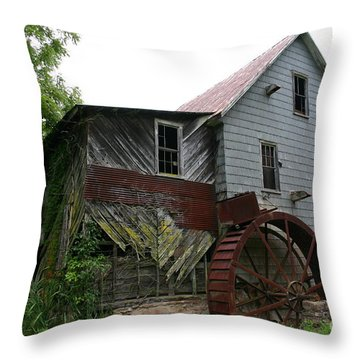 Silverlake Mill Throw Pillow by Annlynn Ward